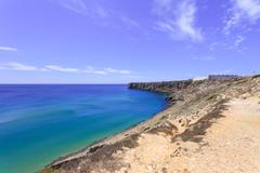 Sagres point and its fortress. algarve southern portugal, mediterranean europ Stock Photos