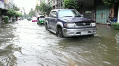 China Town flood 0279 Stock Footage