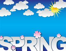 spring concept background - stock illustration
