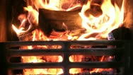 Stock Video Footage of Wood Burning Real Fire