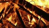 Night fire abstract background Stock Footage
