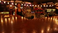 Bartender pours a cocktail Stock Footage