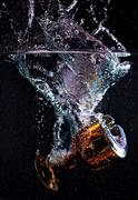 Glass Goblet Splash - stock photo