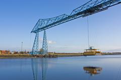 transporter bridge middlesborough - stock photo
