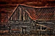 Stock Photo of Old rusty barn