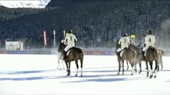 Snow Polo Worldcup, St.Moritz, Switzerland 3 Stock Footage