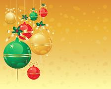 Christmas ornaments Stock Illustration