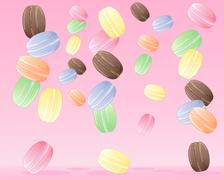 Macaroon design Stock Illustration
