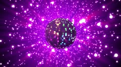 Disco ball on star background - stock footage