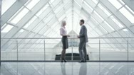The business (job) meeting: man and woman Stock Footage