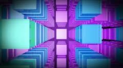 3d top purple level Stock Footage