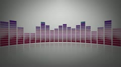 3d glassy audio meter - stock footage