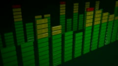Stock Video Footage of 3d stereo green equalizer