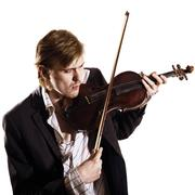 Young violinist playing to violin Stock Photos
