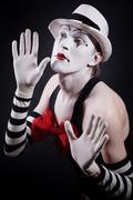 Funny mime Stock Photos