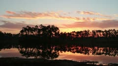 Sunrise in Everglades National Park, Florida Stock Footage