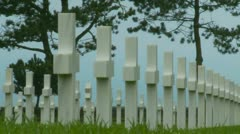 The Normandy American Cemetery (1) Stock Footage
