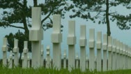 Stock Video Footage of The Normandy American Cemetery (1)