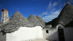 Trulli - traditional homes in Alberobello, Italy Stock Footage