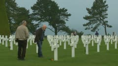 The Normandy American Cemetery (4) - stock footage