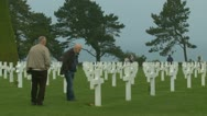 Stock Video Footage of The Normandy American Cemetery (4)