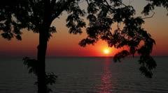 Lake Michigan Sunset Loop - stock footage