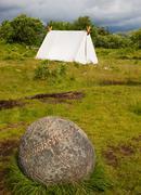 Ancient viking camp Stock Photos