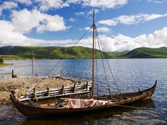 Viking drakkar Stock Photos
