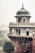 Marble tower in agra, india Stock Photos