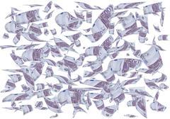 money falling. - stock photo