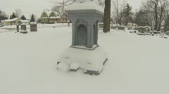 Walking through Cemetery in Winter (Part 4) Stock Footage
