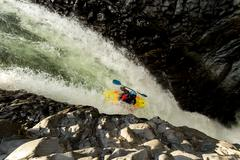Stock Photo of Waterfall Kayak Jump Approx Height 45 Feet High