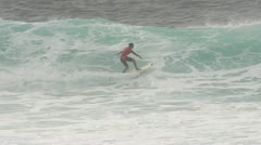 Pro Surfer, Gabriel Farias, Slow Motion, Model Released, 240 fps Stock Footage