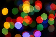 Blurred color lights Stock Photos