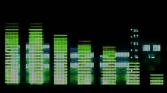 Music graphic equalisers Stock Footage
