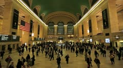 Grand Central Rush Hour Normal Motion - stock footage