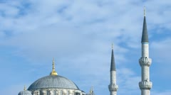 Sultan Ahmed (Blue) Mosque time-lapse. Istanbul, Turkey. Stock Footage