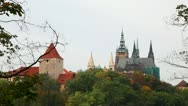 Stock Video Footage of Overview of Prague castle in the morning