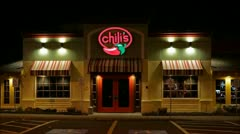 Chilis mexican restaurant loop Stock Footage