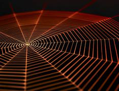 Painted spiderweb Stock Illustration
