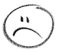 Unhappy smiley sketch Stock Illustration
