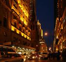 New york city street at night Stock Photos