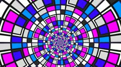 Color tunnel Stock Footage