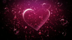 Hearts and Bubbles Stock Footage