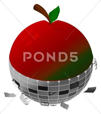Stock Illustration of Mechanical Apple