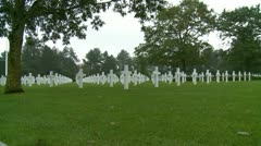 The Normandy American Cemetery (11) Fast zoom Stock Footage