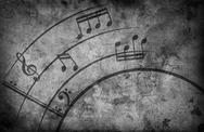 Music notes. grunge background Stock Illustration