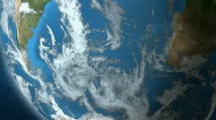 Earth In Space - Southern Hemisphere Stock Footage