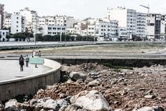 Näkymä Casablanca rannalla, Marokko. Kuvituskuvat