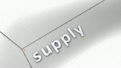 Concept animation, growing chart - Supply. Stock Footage